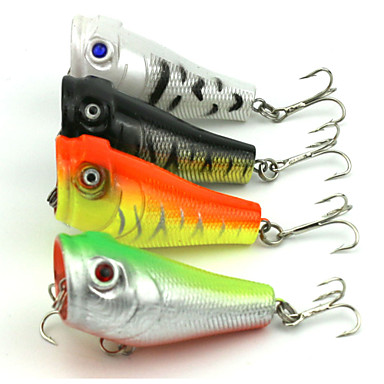 4 pcs Popper leurres de pêche Popper g/Once mm/2-1/8