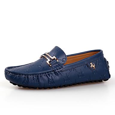 Férfi cipő Bőr Tavasz Ősz Kényelmes Papucsok & Balerinacipők Fehér Fekete Kék