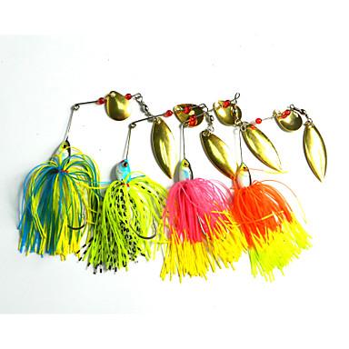 billige Fiskelokkere og -fluer-8 pcs Spinner Madding Blink Spinnere Hård Plastik Silikone Metal Flydende Havfiskeri Ferskvandsfiskere