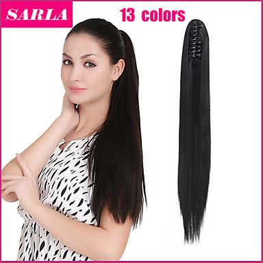 На клипсе Естественные кудри Волосы Наращивание волос 24 дюйм Черный Темно-коричневый Средний коричневый # 6 #P27.613