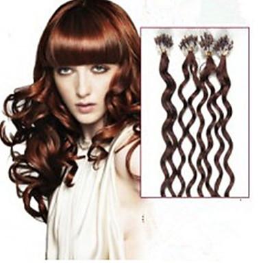 Накладка на микрокольце Расширения человеческих волос Человеческий волос Наращивание волос