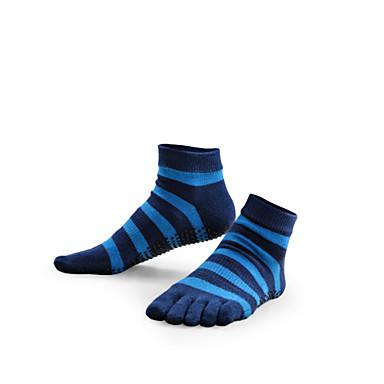 Жен. Носки Носки с пальцами Нескользящие носки Йога Фитнес Анти-скольжение