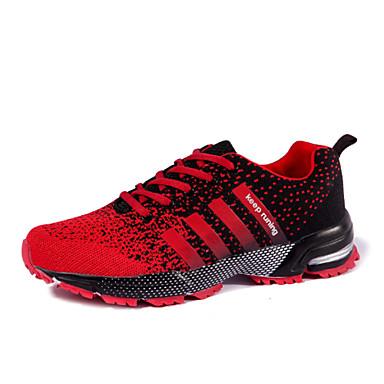 Γυναικεία Παπούτσια Τούλι Άνοιξη Φθινόπωρο Αθλητικά Παπούτσια Τρέξιμο Επίπεδο Τακούνι Κορδόνια για Μαύρο Κόκκινο Μωβ