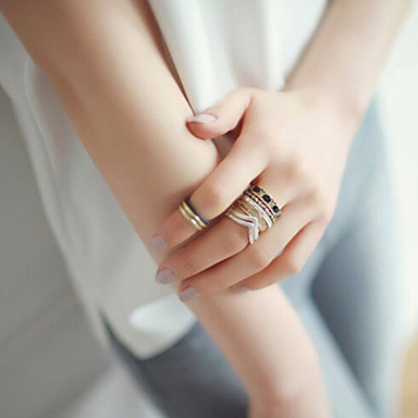 Gyűrűk Hétköznapi Ékszerek Ötvözet Női Midi gyűrűk 1set,7