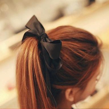 szatén gumi haj nyakkendő headpiece esküvői party elegáns női stílusban