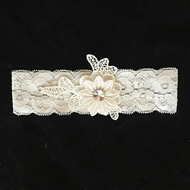 Lace Wedding Garter with Flower Wedding AccessoriesClassic Elegant Style
