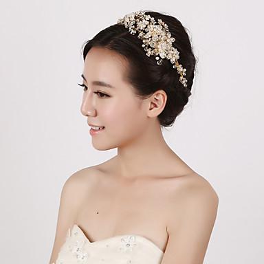 Perłowy Kryształ Imitacja pereł Opaski na głowę 1 Ślub Specjalne okazje Winieta