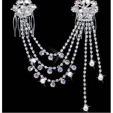 voordelige Dames Sieraden-Dames Feest Strass Verzilverd Gesimuleerde diamant Haarsieraden Effen / Legering