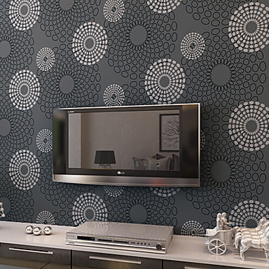 New Rainbow™ Contemporary Wallpaper Art Deco Circle Wallpaper Wall Covering Non-woven Fabric Wall Art