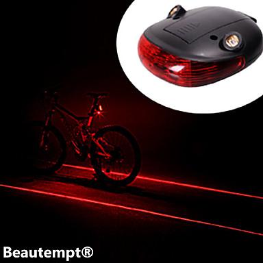 Lumini de Bicicletă Iluminat Bicicletă Spate Laser LED Ciclism Rezistent la Impact Rezistent la apă Laser Baterie de litiu Lumeni Baterie