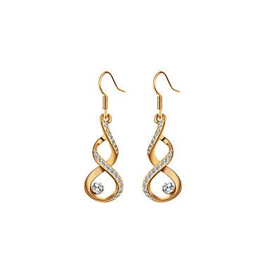 Damen Klar Klar Tropfen-Ohrringe Kreolen - Gold / Silber Für