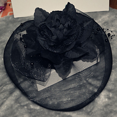 Femme Tulle Casque-Mariage Occasion spéciale Extérieur Fleurs Chapeau 1 Pièce