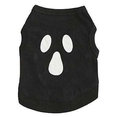 Chat / Chien Costume / T-shirt Noir Vêtements pour Chien Eté Floral / Botanique / Vampire Mode / Cosplay / Halloween