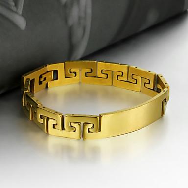 Herrn Ketten- & Glieder-Armbänder / Armband - Edelstahl Kreuz Einzigartiges Design, Retro, Party Armbänder Gold Für Party / Geschenk / Valentinstag