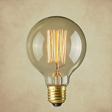 abordables Ampoules électriques-1pc 40 W E26 / E26 / E27 G80 Blanc Chaud 2300 k Ampoule incandescente Edison Vintage 220-240 V / 110-130 V