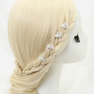Cristal imitation perle alliage épingle à cheveux broche style élégant