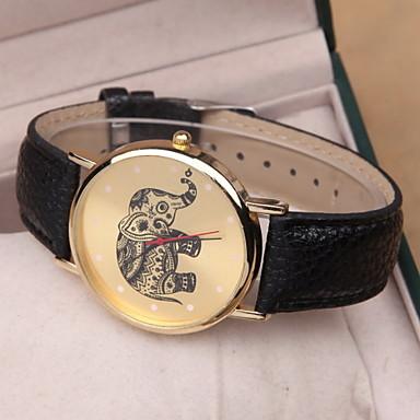 Damen Armbanduhr Quartz Armbanduhren für den Alltag PU Band Analog Charme Modisch Schwarz / Weiß / Rosa - Weiß Schwarz Rosa Ein Jahr Batterielebensdauer / SSUO 377