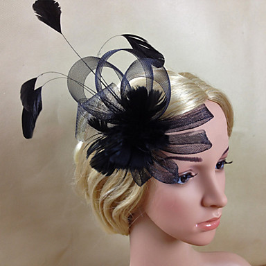 Feather Net Fascinators 1 Wedding Special Occasion Headpiece