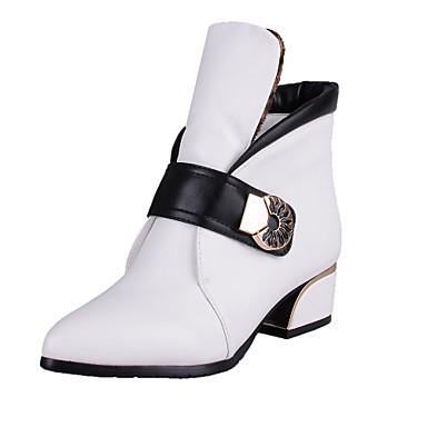 Γυναικεία Παπούτσια Φο Δέρμα Άνοιξη Φθινόπωρο Κοντόχοντρο Τακούνι 10,16εκ - 15,24εκ Μποτίνια για Causal Γραφείο & Καριέρα Πάρτι & Βραδινή