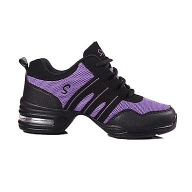 baratos Shall We® Sapatos de Dança-Mulheres Sapatos de Dança Couro / Tecido Tênis de Dança / Dança de Salão Têni Salto Robusto Não Personalizável Preto / Branco / Vermelho / EU41