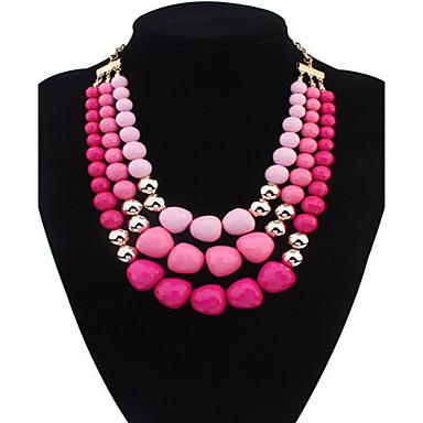 Damen Perlenbesetzt Statement Ketten - Europäisch Farbbildschirm Modische Halsketten Für