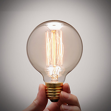 COSMOSLIGHT 1шт 40 Вт E27 E26/E27 G80 Тёплый белый 2300 К Лампа накаливания Vintage Эдисон лампочка AC 220V AC 110-130 В AC 220-240V V