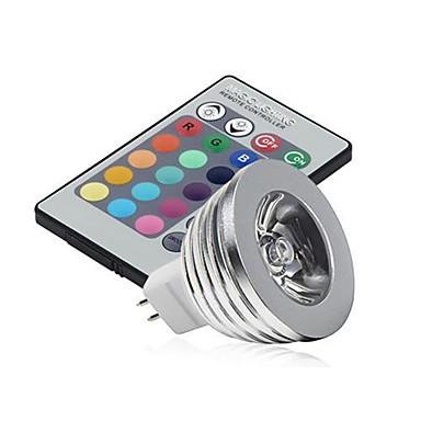 3 Вт. 250 lm GU5.3(MR16) LED PAR-прожектор MR16 1 светодиоды Высокомощный LED Диммируемая Декоративная На пульте управления RGB DC 12V