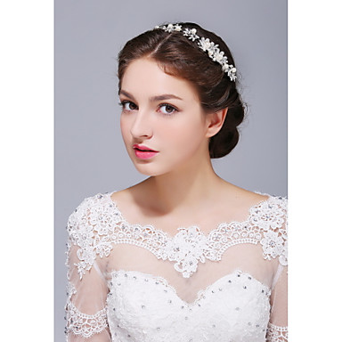 Women's Sterling Silver Alloy Imitation Pearl Headpiece-Wedding Special Occasion Casual Headbands 1 Piece