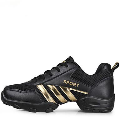 Męskie Adidasy do tańca Skóra Obcas baleriny Adidasy Na wolnym powietrzu Szurowane Niski obcas Szary Złoty 1