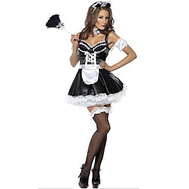 Maid Suits Στολές Ηρώων Κοστούμι πάρτι Γυναικεία Halloween Απόκριες Γιορτές/Διακοπές Κοστούμια Halloween Μαύρο/ Άσπρο Συνδυασμός Χρωμάτων