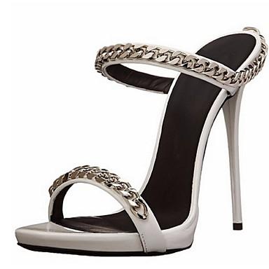 Γυναικεία παπούτσια - Πέδιλα - Γραφείο & Δουλειά / Φόρεμα / Πάρτι & Βραδινή Έξοδος - Τακούνι Στιλέτο - Ανοιχτή Μύτη - Δερματίνη - Ασημί