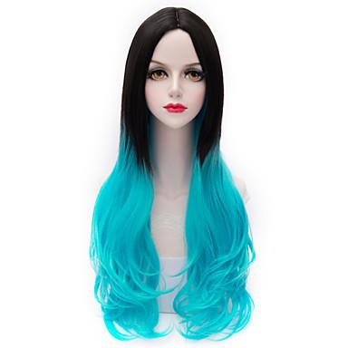 Női Laza hullám Szintetikus haj Nagyon hosszú