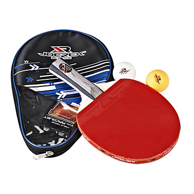 joerex настольный теннис комбо включают 1 шт уровень длинной ручкой ракетки 3 звезды, 2 шт настольный теннис Мячи и сопроводительное
