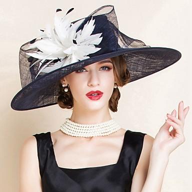 billige Hodeplagg til fest-Linfrø Kentucky Derby Hat / Hatter med 1 Bryllup / Spesiell Leilighet Hodeplagg