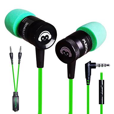 plextone® G10 dans l'oreille jeux e-sport métal écouteurs de basse lourde avec micro pour iPhone6 / iPhone6 ainsi mobilephone / pad /