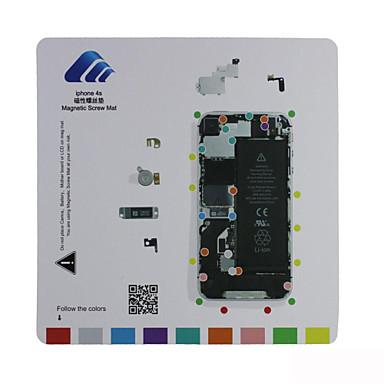 esteira parafuso de guia de reparação técnico almofada magnética para o iphone 4s