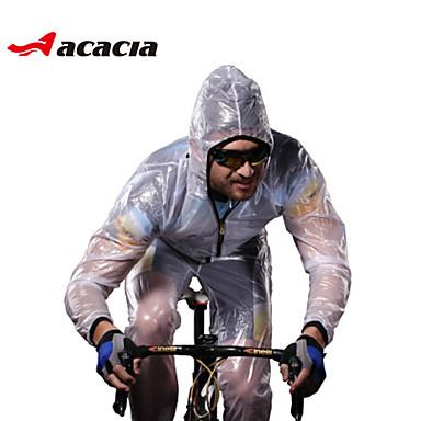 Acacia Manches Longues Veste Vélo Cyclisme - Blanc / Vert / Gris Vélo Ensemble de Vêtements Coupe Vent Respirable Séchage rapide Bandes Réfléchissantes Hiver Des sports Couleur unie VTT Vélo tout