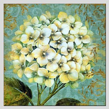Maalattu Kukkakuvio/KasvitiedeModerni / European Style 1 paneeli Kanvas Hang-Painted öljymaalaus For Kodinsisustus