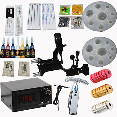 1 alloy machine liner & shader LCD power supply5 x tattoo needle RL 3 5 x tattoo needle RL 5 5 x tattoo needle M1 5 5 x tattoo needle M1