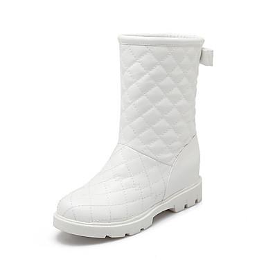 Saappaat - Kiilakorko - Naisten kengät - Tekonahka - Sininen / Pinkki / Valkoinen - Rento - Talvisaappaat / Pyöreäkärkiset