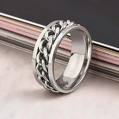 Erkek Bildiri Yüzüğü - Paslanmaz Çelik, alaşım Avrupa, Moda 5 / 6 / 7 Siyah / Gümüş / Altın Uyumluluk Günlük