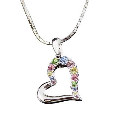 Naisten Riipus-kaulakorut Kristalli jäljitelmä Diamond Metalliseos Love minimalistisesta Värikäs Korut Varten