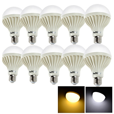 15W E26/E27 LED-pallolamput 24 SMD 5630 1050 lm Lämmin valkoinen / Kylmä valkoinen Koristeltu AC 220-240 V 10 kpl