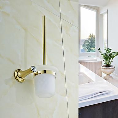 Toilet Brush Holder / Polished Brass Brass /Contemporary