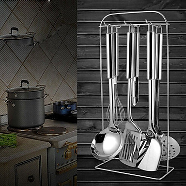 Stainless Steel Colander Can Be Hanging, spoon, spatula, frying shovel, 4PCS One Set
