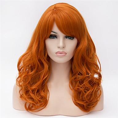 Syntetiske parykker Krøllet Asymmetrisk frisyre Syntetisk hår Naturlig hårlinje Gull Parykk Dame Lang Cosplay-parykk / Kostyme Parykk