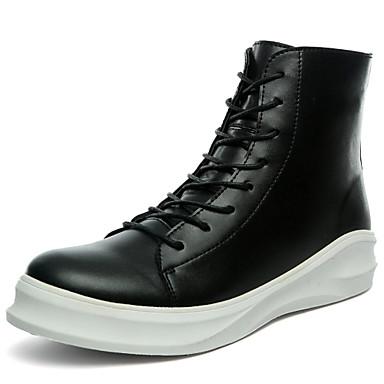 Støvler-PU-Arbejde og sikkerhed-Herre-Sort-Udendørs Fritid Sport-Flad hæl