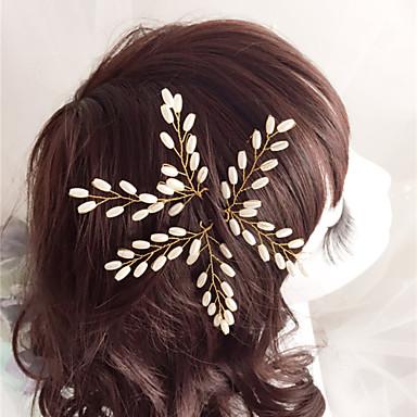 Kadın Çiçekçi Kız İmitasyon İnci Başlık-Düğün Özel Anlar Saç İğnesi 3 Parça