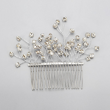 Rhinestone Alloy Hair Combs Headpiece