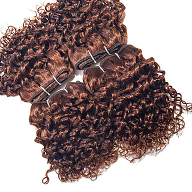 Brazilian Hair Curly Weave Curly Human Hair Weaves 4 Pieces 0.12
